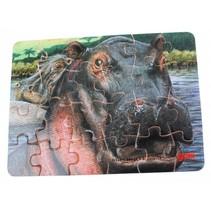 Puzzel Wilde Dieren: Nijlpaard 24-Delig