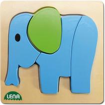 vormenpuzzel olifant junior hout 14 x 14 cm