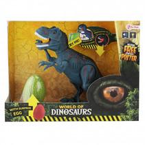 speelset dinosaurus met geluid junior blauw 2-delig