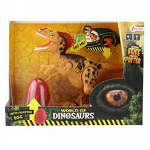 speelset dinosaurus met geluid junior geel 2-delig