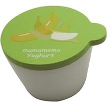 bakje bananenyoghurt hout 4 cm wit/groen
