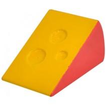 blok kaas hout 6,5 cm geel