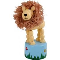 drukdier Leeuw hout junior 11 x 4,5 cm