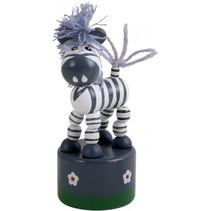 drukdier Zebra hout junior 11 x 4,5 cm