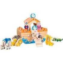 houten speelset Ark van Noach 18-delig