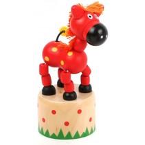 drukfiguur paard rood 4,5 x 4,5 cm