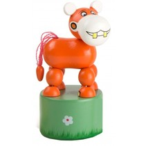 drukfiguur nijlpaard oranje 11 cm