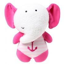 Glow In The Dark Knuffel olifant roze 20 cm