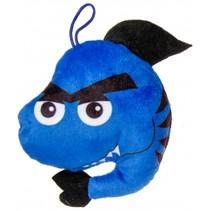 knuffelhaai 12 cm blauw