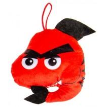 knuffelhaai 12 cm rood