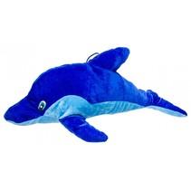 knuffeldolfijn 42 cm blauw