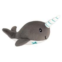Knuffelnarwal grijs 17 cm