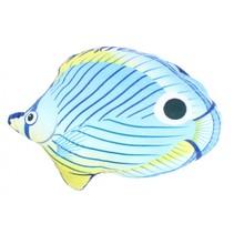 knuffelvis pluche junior 22 cm blauw/strepen