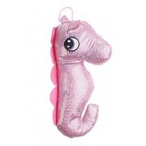knuffel zeepaard glitter 21 cm roze