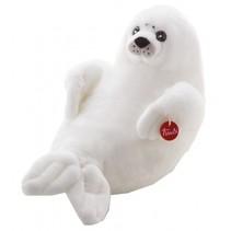 Knuffel zeehond 58 cm wit