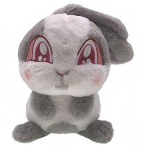 Cuties knuffel konijn 25 cm grijs