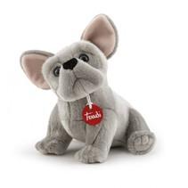 knuffel Franse Bulldog Bernard 30 cm grijs