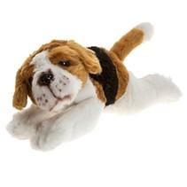 pluchen hondenknuffel Beagle 21 cm wit/bruin/zwart