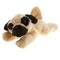 pluchen hondenknuffel Boxer 21 cm crème/zwart