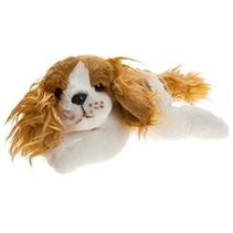 pluchen hondenknuffel King Charles-spaniël 21 cm wit/br