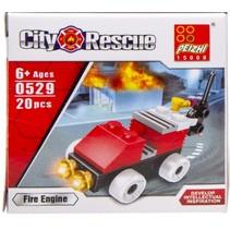 brandweer bouwset brandweerauto 20-delig