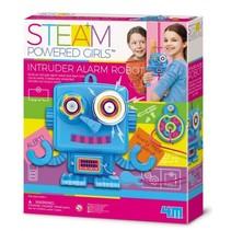 Steam Powered Girls indringersalarm robot 15 cm (Engels)