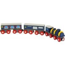 Orient Express trein blauw