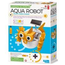 KidzLabs aqua robot geel/wit 28 cm  (Franstalige verpakking)