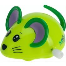 opwindfiguur muisje 7,5 cm groen