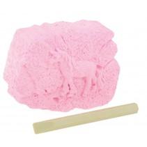uithaksteen paard 7 cm roze