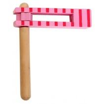 ratel hout 15 cm roze