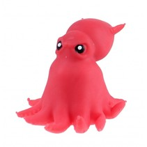 knijpfiguur octopus 11 cm rood