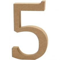 houten cijfer 5 8 cm