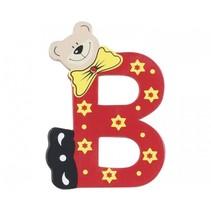 letter B beer hout 10 cm