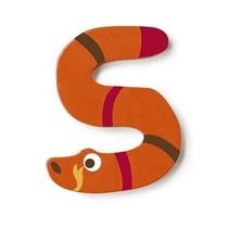 letter S slang oranje 5.5 cm