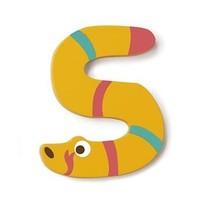 letter S slang geel 5.5 cm