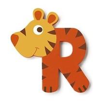 letter R tijger oranje 5.5 cm