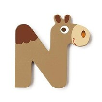 letter N dromedaris bruin 5.5 cm