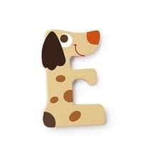 letter E hond crème 5.5 cm