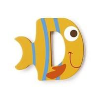 letter D vis geel 5.5 cm