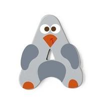 letter A pinguin grijs 5.5 cm