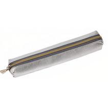 etui 18,5 x 3,5 cm kunstleer zilver/goud