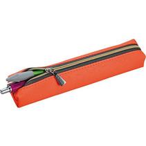etui 18,5 x 3,5 cm kunstleer oranje/zwart