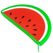etui Watermeloen 19,5 x 10 cm siliconen rood/groen