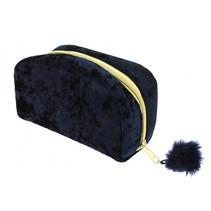 etui met pompom 19 cm zwart