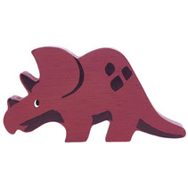 dino triceratops 11 cm hout rood