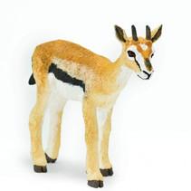 wilde dieren Thomsongazelle junior 8,25 cm lichtbruin/wit