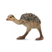 wilde dieren: struisvogelkuiken 5,5 cm bruin