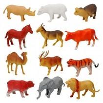 wilde dierenset 12-delig