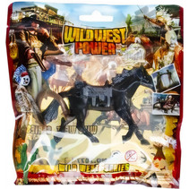 speelfiguur Wild West Power junior zwart 2-delig